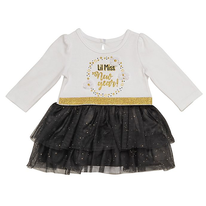 Alternate image 1 for Baby Starters® Miss New Year Dress in White