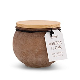 Foundry Candle Co. Sands Cedar Whiskey + Oak 9 oz. Scented Candle in Dusty Mauve