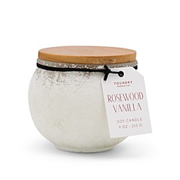 Foundry Candle Co. Sands Pearl Rosewood Vanilla 9 oz. Scented Candle in Rust
