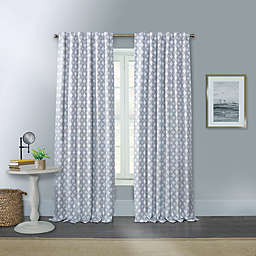 Willow 63-Inch Rod Pocket/Back Tab Window Curtain Panel in Silver (Single)