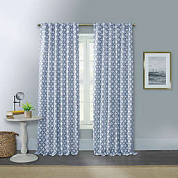 Willow 95-Inch Rod Pocket/Back Tab Window Curtain Panel in Twilight