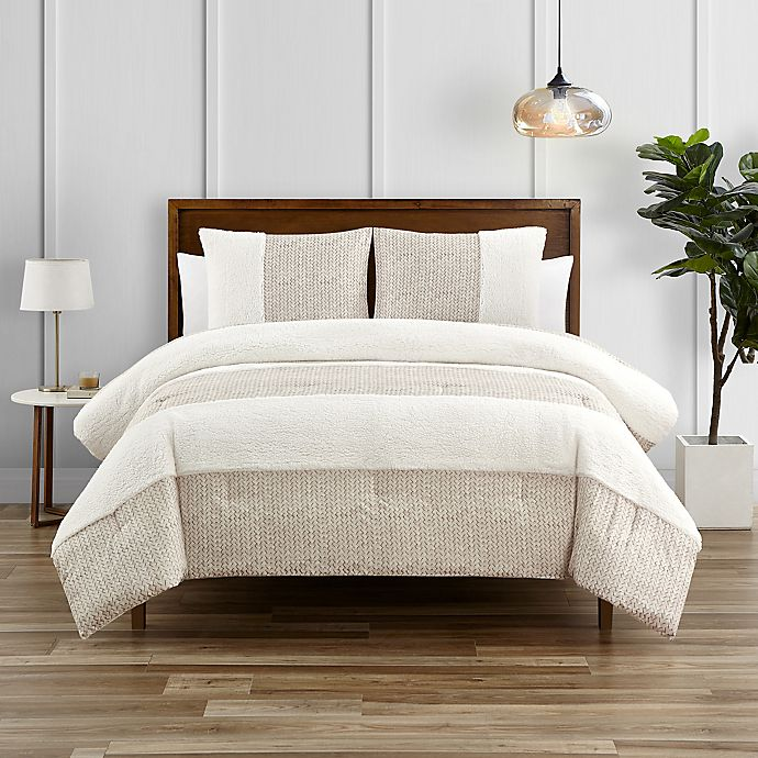 Alternate image 1 for Wren 3-Piece King Comforter Set in Oatmeal