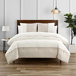 Wren 3-Piece King Comforter Set in Oatmeal