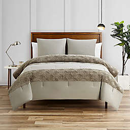 Lumi 3-Piece Queen Comforter Set in Light Grey