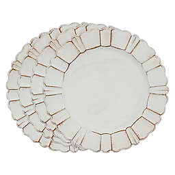 Saro Lifestyle Sousplat Scallop Charger Plates in Ivory (Set of 4)