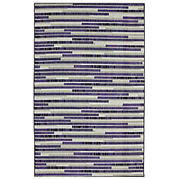 Mohawk® Home Prismatic Stacked Tile 2' x 3' Accent Rug in Purple/Multicolor