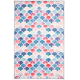 Mohawk® Home Prismatic Mermaid Scales Area Rug in Pink/Multicolor