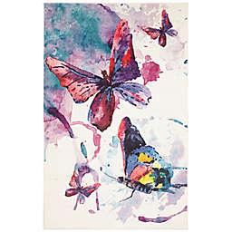 Mohawk® Home Watercolor Butterflies 10' x 14' Area Rug in Purple