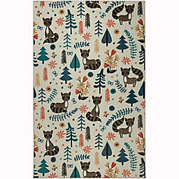 Mohawk Home® Prismatic Raccoon Woodland Rug in Cream