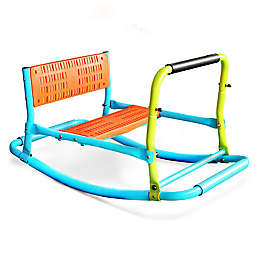 Pure Fun Single Rocker Kids Seesaw in Green/Blue