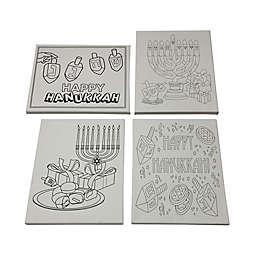 Hanukkah Themed Canvas Paint Set (Set of 4 Canvases)