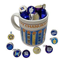 Hanukkah Ceramic Coffee Mug filled with Chocolates