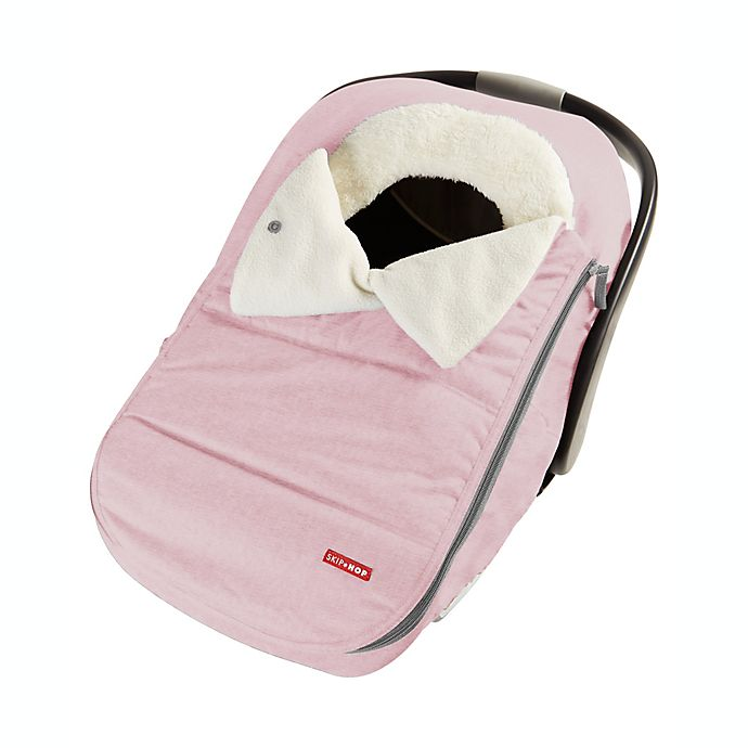Alternate image 1 for SKIP*HOP® Stroll & Go Universal Car Seat Cover in Heather Pink