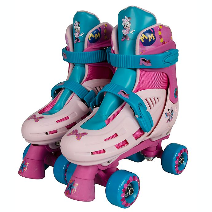 Alternate image 1 for PlayWheels Disney® Minnie Mouse Size 10-13 Roller Skates in Blue/Pink