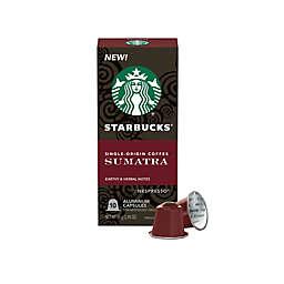 Starbucks® by Nespresso® Sumatra Espresso Capsules 10-Count