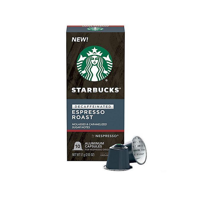 Alternate image 1 for Starbucks® by Nespresso® Decaf Espresso Roast Capsules 10-Count