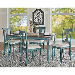 Edie Dining Collection in Teal Blue