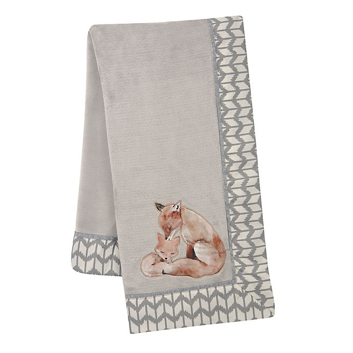Alternate image 1 for Lambs & Ivy® Painted Forest Fleece Blanket in Grey