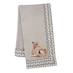 Lambs & Ivy® Painted Forest Fleece Blanket in Grey
