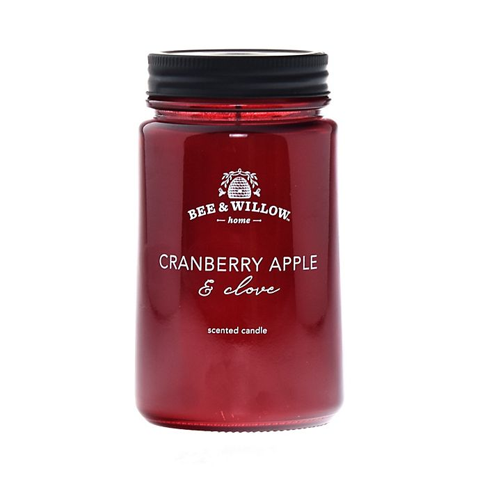 Alternate image 1 for Bee & Willow™ Home  Cranberry Apple and Clove 14 oz. Mason Jar Candle