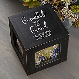 Grandkids Personalized Photo Cube
