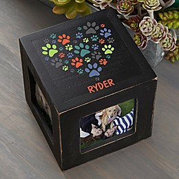 Paws On My Heart Personalized Photo Cube