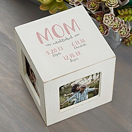Mom Established Personalized Photo Cube