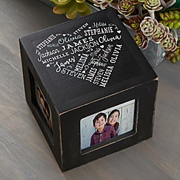 Close To Her Heart Personalized Photo Cube