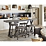 Part of the Progressive Furniture Fiji Harbor Counter Table and Stool Collection in Grey