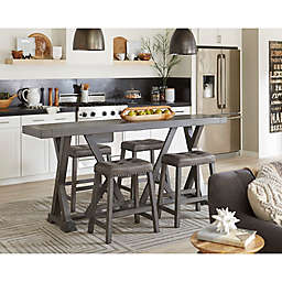 Progressive Furniture Fiji Harbor Counter Table and Stool Collection in Grey