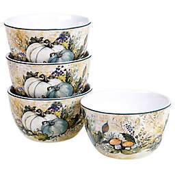 Certified International Harvest Gatherings Ice Cream Bowls (Set of 4)