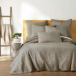 Homthreads Beckett 2-Piece Reversible Twin Quilt Set in Taupe
