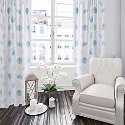 Levtex Home Seaglass 84-Inch Window Curtain Panel in Blue/Taupe