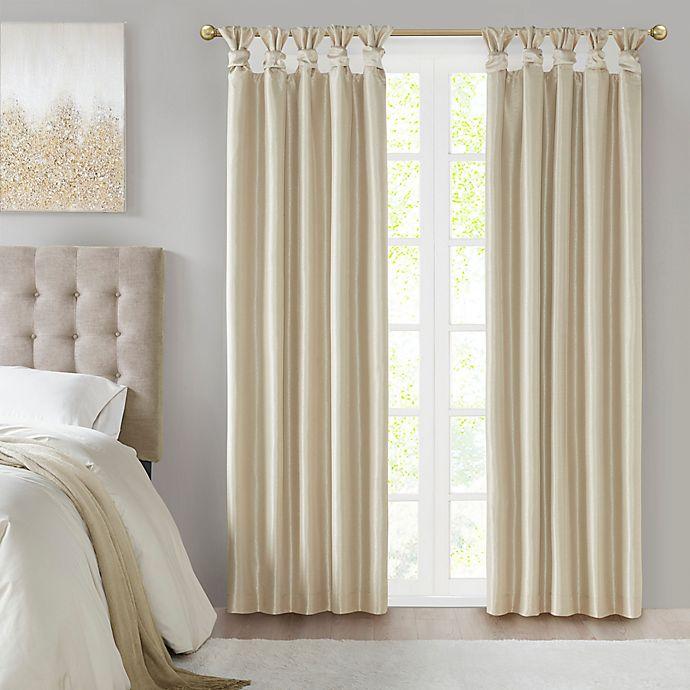 Alternate image 1 for Madison Park® Emilia Twist Tab 100% Blackout Window Curtain Panel (Single)
