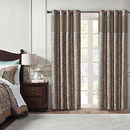 Madison Park Aubrey Jacquard Total Blackout Window Curtain Panel (Single)