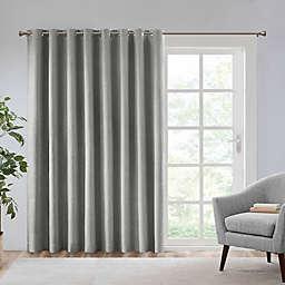 SunSmart Maya 84-Inch Grommet Room Darkening Patio Window Curtain Panel in Grey (Single)