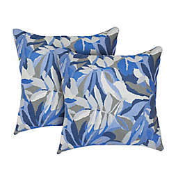 Astella 18-Inch Square Indoor/Outdoor Throw Pillows (Set of 2)