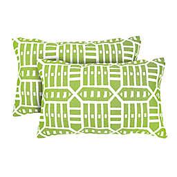 Astella Rectangular Indoor/Outdoor Throw Pillows in Green Roland (Set of 2)