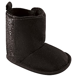 Luvable Friends® Size 6-12M Glitter Crib Boot in Black