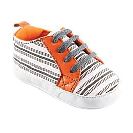 Yoga Sprout Size 0-6M Stripe Sneaker in Grey