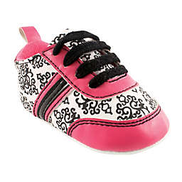 Yoga Sprout Size 6-12M Damask Sneaker in Black