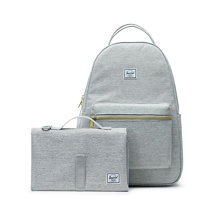 Alternate image 1 for Herschel Supply Co.® Nova Sprout Diaper Backpack in Light Grey