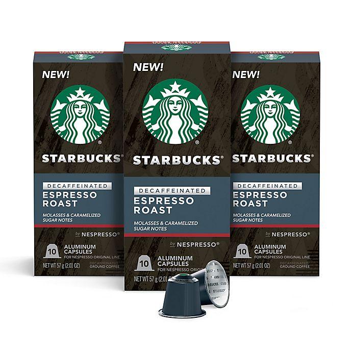 Alternate image 1 for Starbucks® by Nespresso® Decaf Espresso Capsules 30-Count