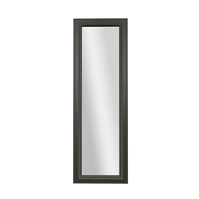 Alternate image 1 for PTM Images Kristina 53.25-Inch x 17.25-Inch Rectangular Over-The-Door Mirror in Pewter