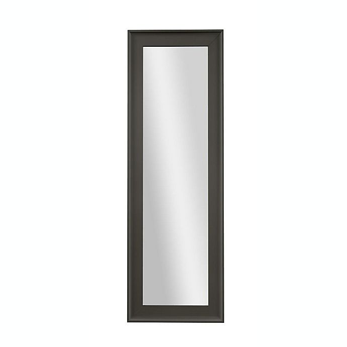 Alternate image 1 for PTM Images Eclipse 53.25-Inch x 17.25-Inch Over-The-Door Mirror in Pewter