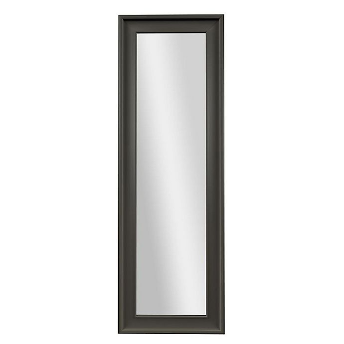 Alternate image 1 for PTM Images Diverse 53.25-Inch x 17.25-Inch Rectangular Over-The-Door Mirror in Pewter