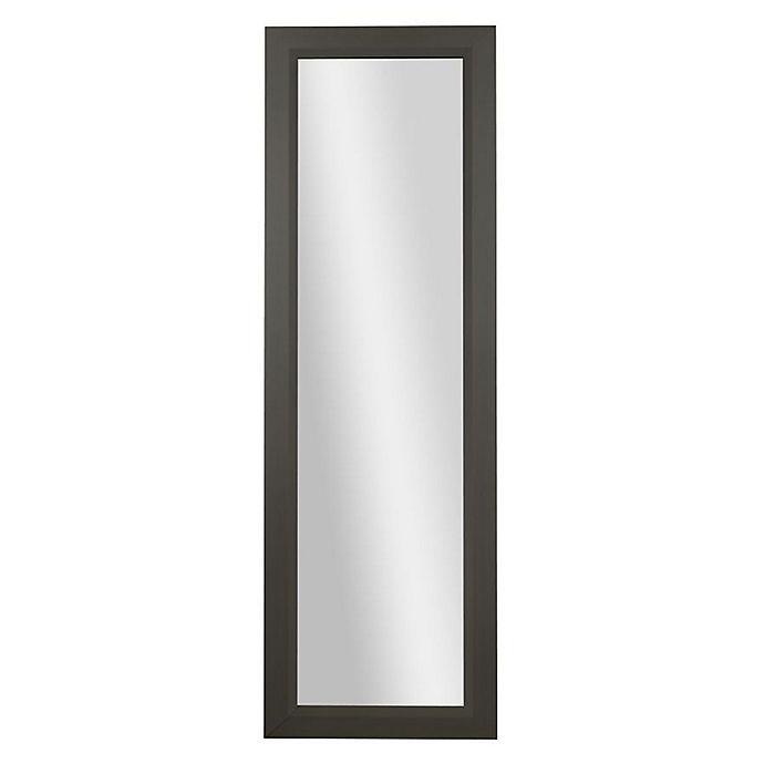 Alternate image 1 for PTM Images Diamond 53.25-Inch x 17.25-Inch Rectangular Over-The-Door Mirror in Pewter