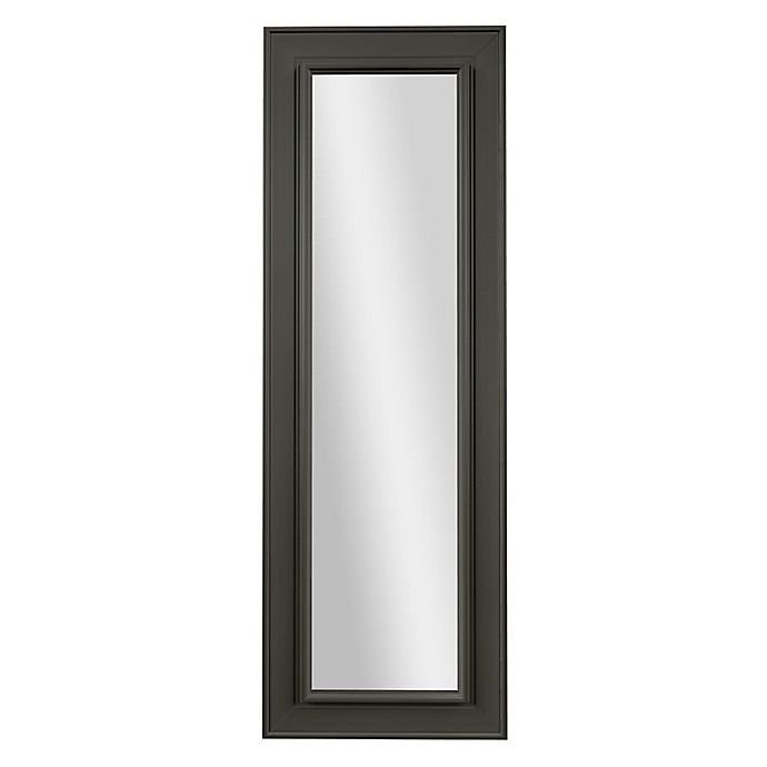 Alternate image 1 for PTM Images Bonita 53.25-Inch x 17.25-Inch Rectangular Over-The-Door Mirror in Pewter