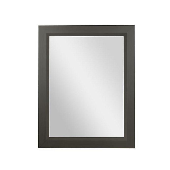Alternate image 1 for PTM Images Vivid 28-Inch x 22-Inch Rectangular Wall Mirror in Pewter