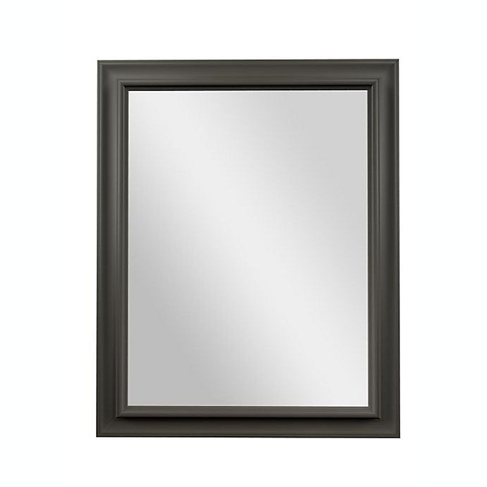 Alternate image 1 for PTM Images Ivana 30-Inch x 24-Inch Rectangular Wall Mirror in Pewter